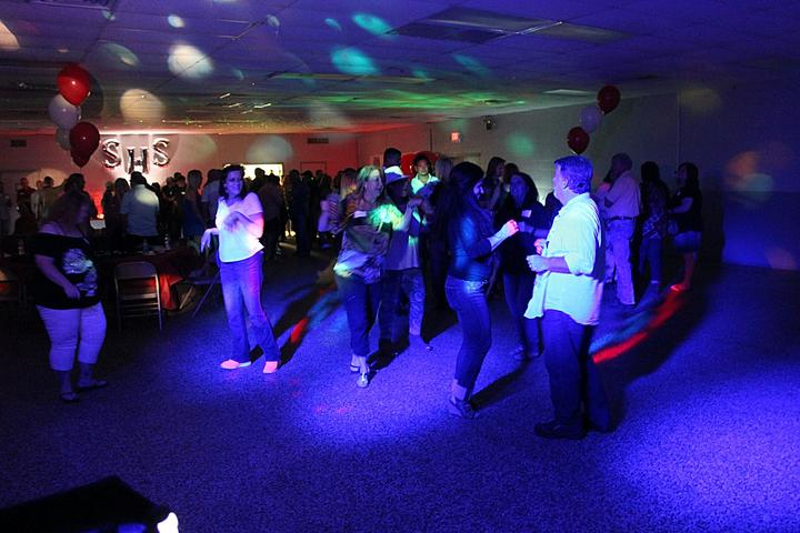 Lots of dancers at a Springdale High School 20th Class reunion held in Tontitown, Arkansas.
