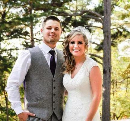 Mattie Toney with her new husband in Eureka Springs Ar.