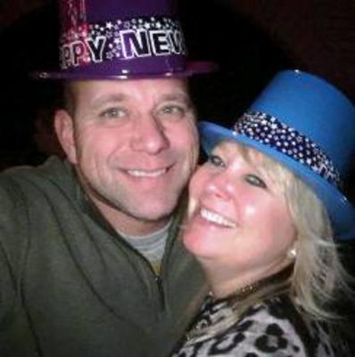 Wendy Luckenhoff and her date at the New Year's Eve bash in Eureka Springs, AR